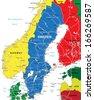 Sweden map - stock vector