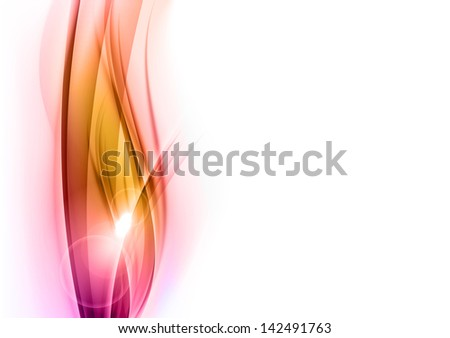 sweet abstract shapes on the white background - stock vector
