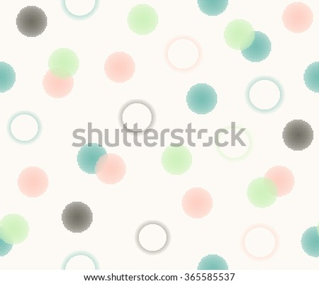 Sweet cute colorful doodle circle dot with sweet pastel color design background, pattern, seamless, wallpaper. - stock vector