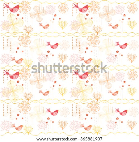 sweet floral pattern  - stock vector