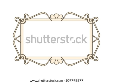 Sweet retro art deco frame. Vector illustration isolated on white background with empty space to put picture or text - stock vector
