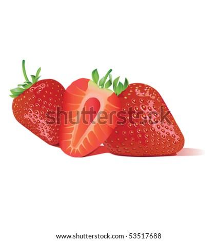 Sweet strawberry - stock vector