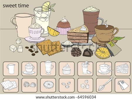 Sweet time - stock vector