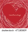 sweet valentine card - stock vector
