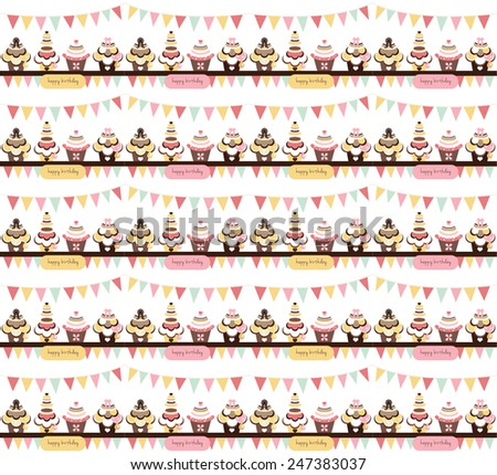 sweet wrapping paper design - stock vector