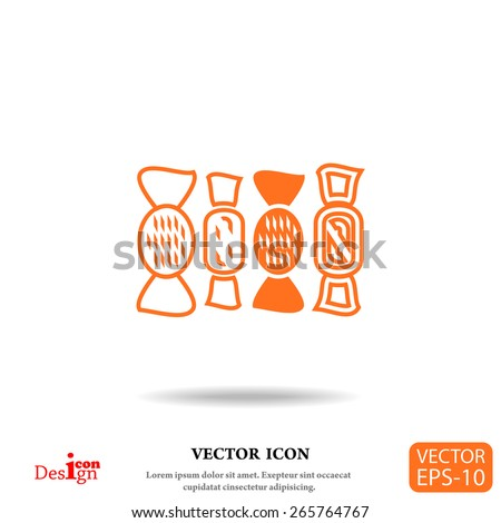 sweets vector icon - stock vector