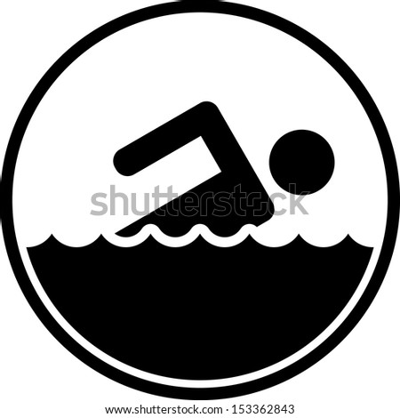 Swimming icon sign  - stock vector