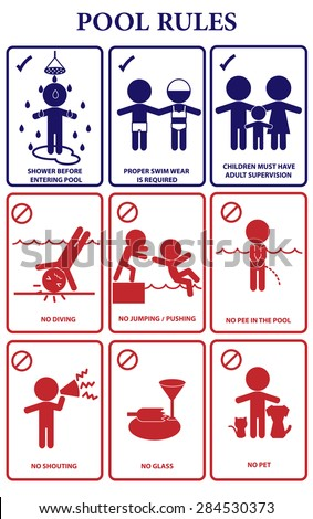 Rules stock vectors vector clip art shutterstock - Swimming pool rules and regulations signs ...