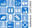 Swimmingpool icons - stock vector