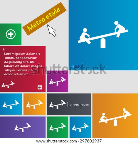 swing icon sign. buttons. Modern interface website buttons with cursor pointer. Vector illustration - stock vector