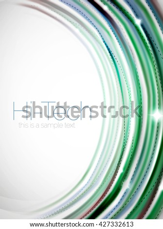 Swirl abstract background. Vector blur waves - stock vector