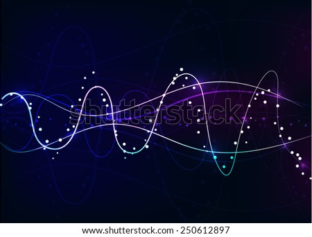 Swirl abstract background, vector, illustration - stock vector