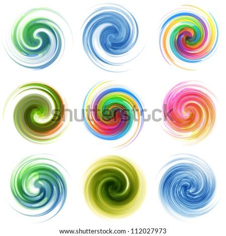 Swirl elements�for design. Vector illustration. - stock vector