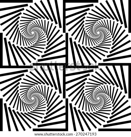 Swirl - vector illustration of striped spirals - stock vector
