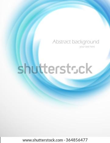 Swirl vortex funnel in blue color vector illustration - stock vector