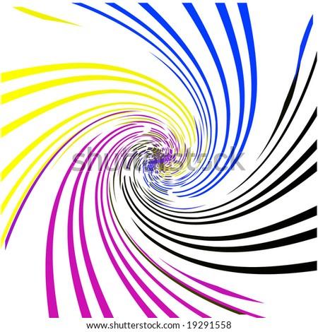 swirled pixels - stock vector