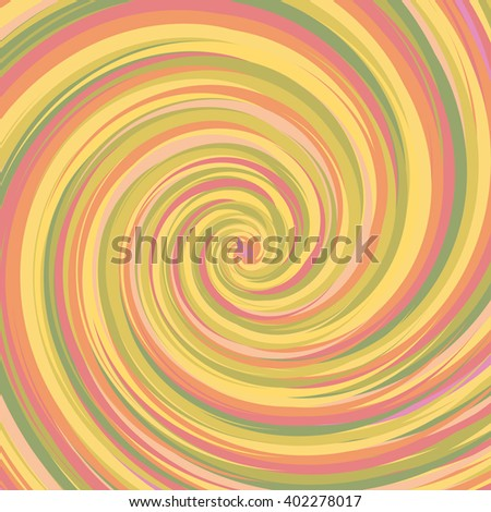 Swirling backdrop. Spiral surface with space for text. Vector Illustration - stock vector