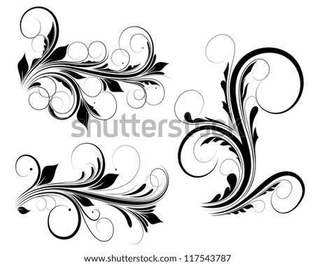 Swirls Vectors - stock vector