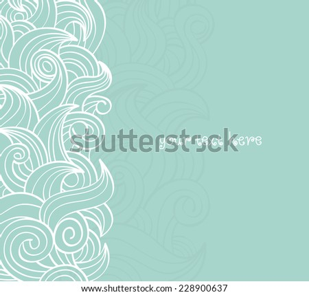 swirly doodle background - stock vector