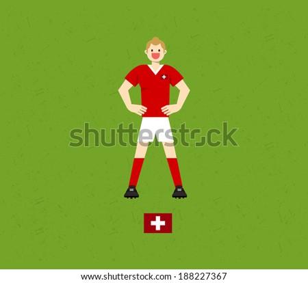 Switzerland Soccer Tables  - stock vector