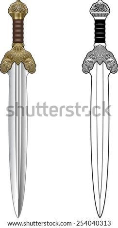 sword - stock vector