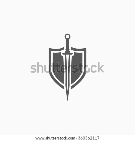 sword and shield icon - stock vector