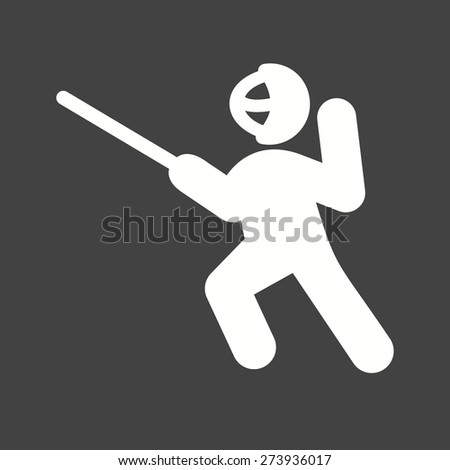 Sword fighting, sword, shield, blade, sports icon vector image. Can also be used for fitness, recreation. Suitable for web apps, mobile apps and print media. - stock vector