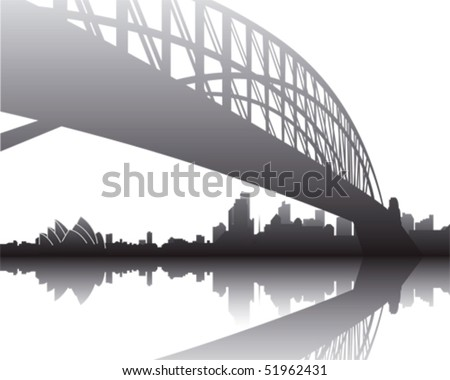 Sydney Skyline - stock vector