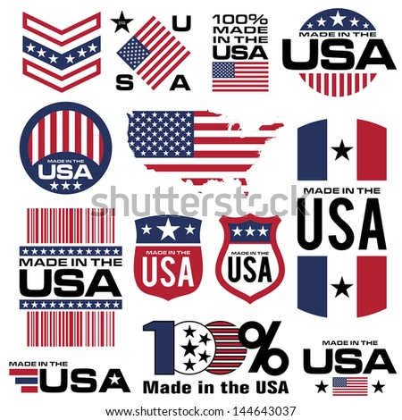 symbol element usa  manufacturing icon banner vector - stock vector