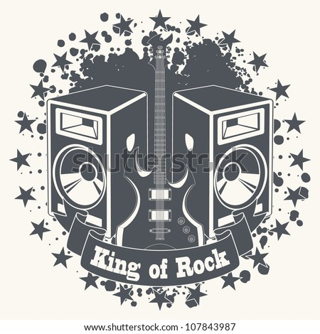 Symbol king of rock - stock vector