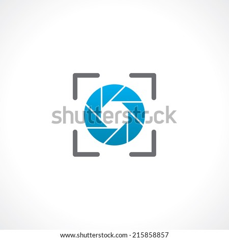 symbol of camera shutter. template logo design. vector eps8 - stock vector