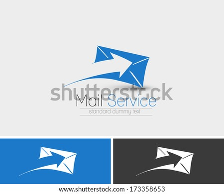 Symbol of Email, isolated vector design  - stock vector
