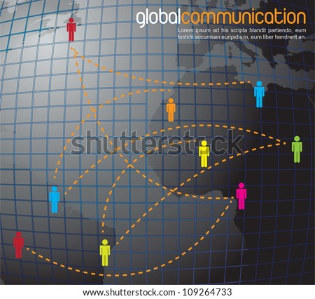 symbol of global communication in the world - stock vector