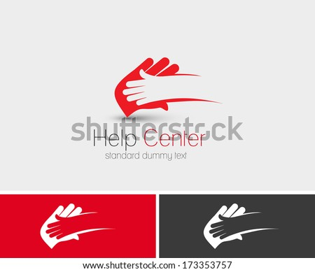 Symbol of Help Center, isolated vector design  - stock vector