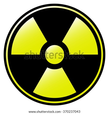 symbol of radioactive contamination with highlights  danger - stock vector
