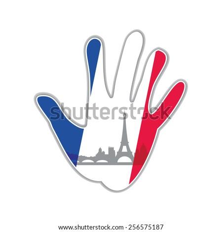 Symbol of the city - Paris The idea for the design - stock vector