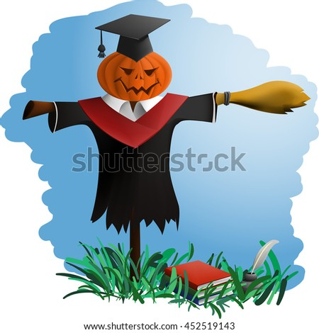 symbol of uselessness students after the end of higher education - stock vector