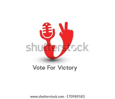 Symbol of Victor...V For Victory Sign