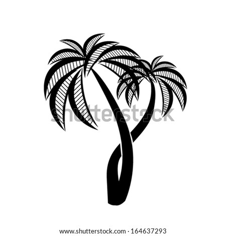 symbol palm. Vector - stock vector