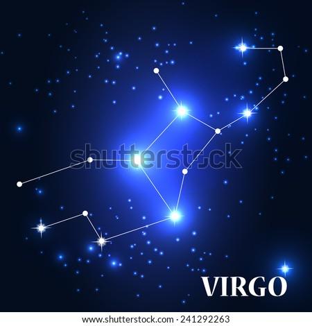 Symbol: Virgo Zodiac Sign. Vector Illustration. EPS10 - stock vector