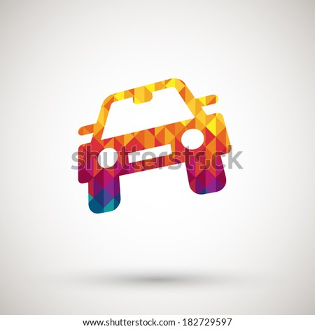 symbol with colorful diamond - stock vector
