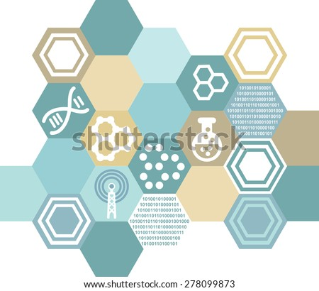 Symbolic background in science - stock vector