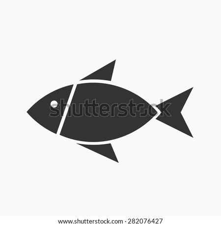 Symbolic fish icon. Vector illustration - stock vector