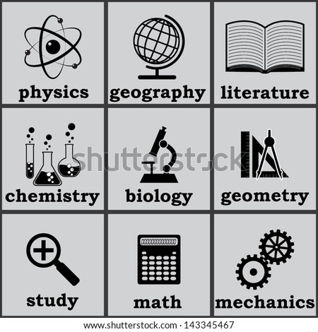 symbols of education. vector icons set. eps8 - stock vector