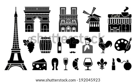 Symbols of France - stock vector