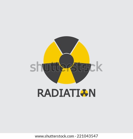 symbols of radiation icon  - stock vector