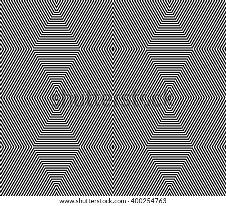 Symmetric grid, mesh pattern. Seamlessly repeatable abstract monochrome geometric background. - stock vector