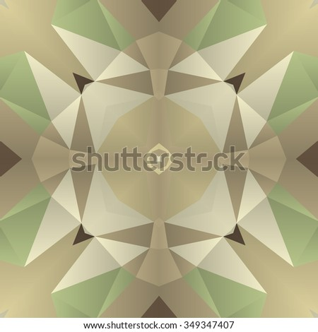 Symmetrical background element with bold geometrical patterns and stylized floral pattern. For wallpaper, pattern fills, web page background, surface textures for print and dalle production. - stock vector