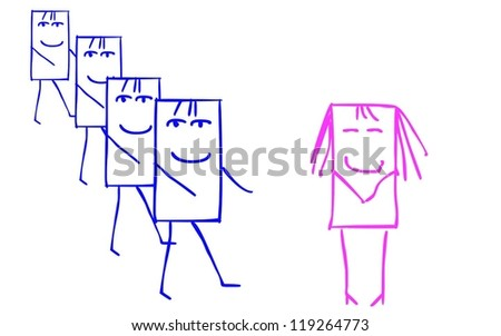 sympathy for the woman - stock vector