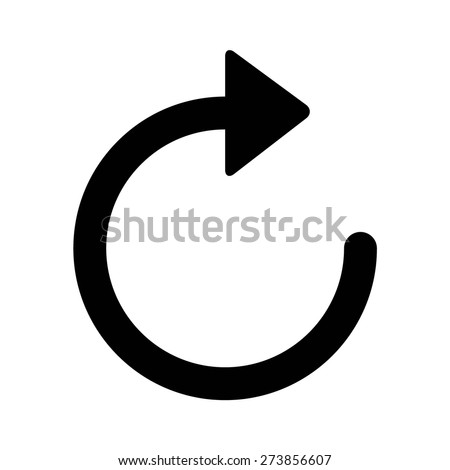 Sync and refresh arrow line art icon for apps and websites - stock vector